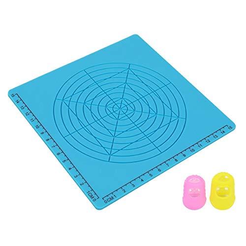 Auartmetion 3D-Druck-Feder-Design-Mat weiche Silikon-Copy-Vorlagen mit Grundformen Extra-Silikon-Finger-Caps Großer 3D-Pen-Zeichentool (Farbe : Blue Type D)
