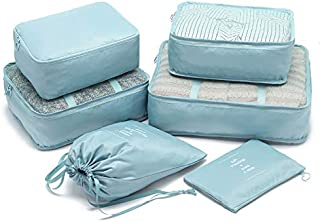 Travel Bag Organizer Luggage Packing Organizers Packing Cubes Set for Travel (Pale Blue)