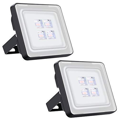 Led Fluter 10W, IP65 Wasserdicht Scheinwerfer, 1000LM, ideale Außenbeleuchtung für Garten, Garage Oder Sportplatz