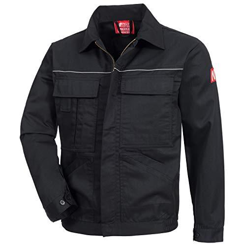 Nitras Motion TEX Light - Leichte Arbeitsjacke für Damen & Herren - Schutzjacke mit vielen Taschen - Arbeitsschutzjacke mit Reflexbiesen auf Brust und Rücken - Schwarz Größe 52