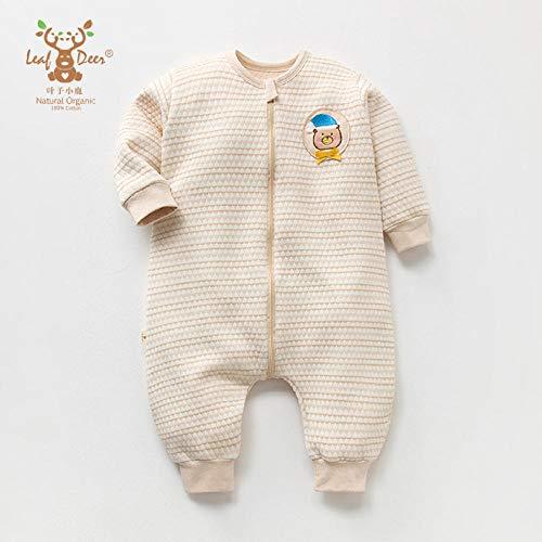 Wikkeldeken Universal Baby, Kleur katoenen slaapzak-Off White Penguin_XL, Babyslaapzak Safe Nights