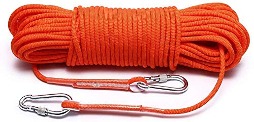 KaiKai Corde d'escalade aimantée pour évasion Équipement d'escalade et de Sauvetage Eau Parachute Randonnée et Sporting (Couleur : Orange, Taille : 50 m), Orange, 50 m