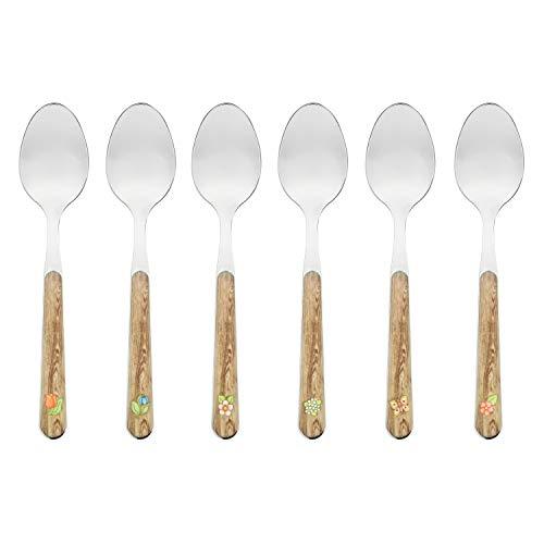THUN - Set 6 cucchiaini Country - Acciaio Inossidabile - 14,5 cm
