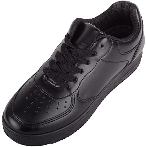 Zapatillas de deporte para mujer, con suela de agarre grueso, para caminar, correr, color Negro, talla 39 EU