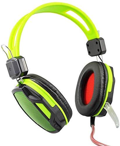 QCSMegy Auriculares con Cable De Sonido Envolvente Juego De Auriculares con Micrófono, Auriculares Auriculares con Reducción De Ruido del Micrófono De Alta Definición, For CF Auriculares For Juegos