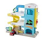Fisher-Price FHG50 - Little People Parkhaus mit 2 Wheelies Fahrzeugen, Kleinkind Spielzeug ab 18 Monaten -