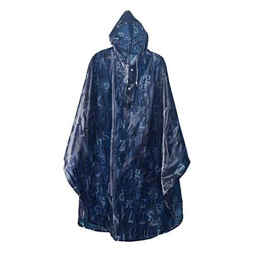 CAIZHAO Multifunctionele lichtgewicht regenjas met capuchon PEVA Herbruikbare regenjas Draagbare waterdichte regenkleding voor mannen Vrouwen Camping, Wandelen, Outdoor