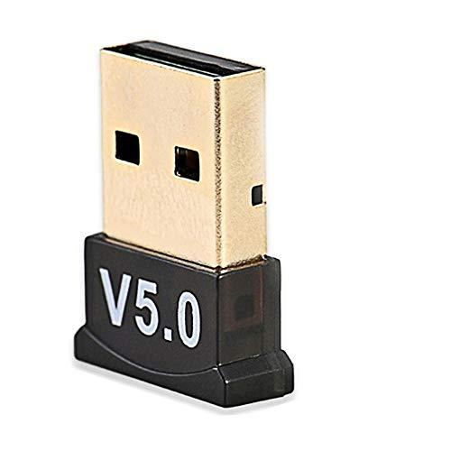Bluetooth 5.0 USB Dongle Adapter, Bluetooth Empfänger USB für Laptop PC Unterstützung Windows 10/8/7/XP, Vista, Bluetooth Transmitter für Bluetooth Lautsprecher, Headset, Tastatur, Maus und mehr