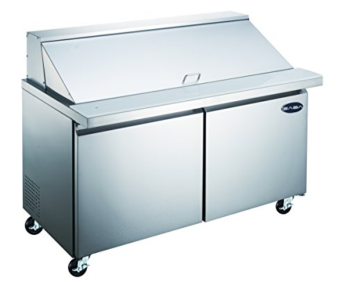 "Price comparison product image SABA 36"" Commercial Mega Sandwich Prep Table Refrigerator"