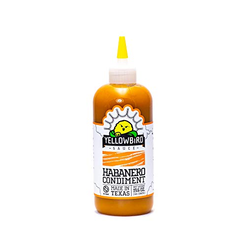 Habanero Hot Sauce by Yellowbird Foods All Natural NonGMO 196 oz bottle