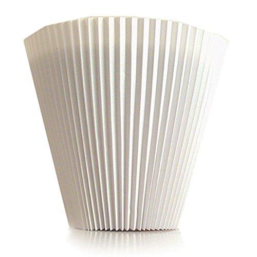 100Plisset-Vase mit Höhe 14cm Bianco
