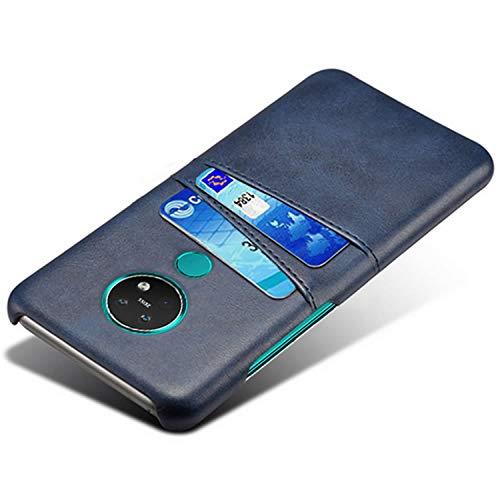 HualuBro Handyhülle für Nokia 7.2 Hülle, Nokia 6.2 Hülle Leder, Ultra Slim Stoßfest Schutzhülle Bumper Hülle Cover Lederhülle Backcover für Nokia 7.2 / Nokia 6.2 Tasche (Blau)