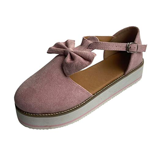 FEISI22 2020 Sandals for Women Wide Width,Casual Bow Slipper or Ankle Hollow Round Toe Sandals Soft Sole Shoes