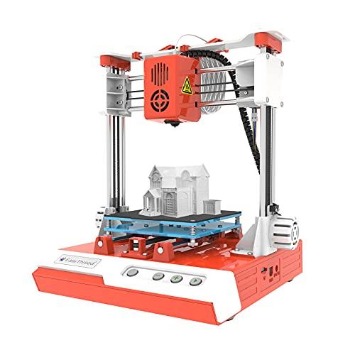 Fesjoy Children 3D Printer, Mini Desktop Children 3D Printer 100 * 100 * 100mm Print Size High Precision Mute Printing with TF Card PLA Sample Filament for Kids Beginners Creativity Education Gift