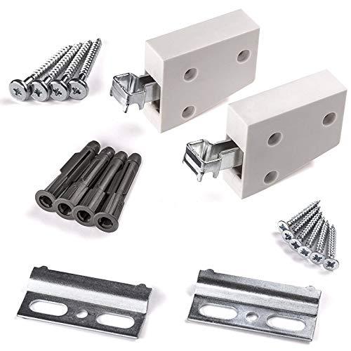 Sotech 5 x SO-TECH® Schrankaufhänger weiß Wandhalterung Schrankhalterung Tragkraft 120 kg | Set KOMPLETT