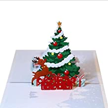Christmas cards - Details about 3D Pop Up Card Christmas Greeting Baby Gift Holiday Happy New 2018 New Arrival Hot Sale