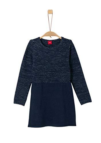 s.Oliver Mädchen 53.909.82.2922 Kleid, Blau (Dark Blue 5952), 128 (Herstellergröße: 128/REG)