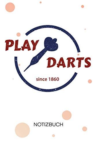 NOTIZBUCH A5 Blanko: Dartspieler SKIZZENBUCH - 120 Seiten für Notizen Skizzen Zeichnungen - Dartscheibe Notizheft Darts - Dartsport Geschenk für Dartspieler Darter Dartprofi