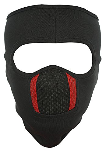 H-Store Unisex Lycra Face Mask (hstoreblueredmask, Black)