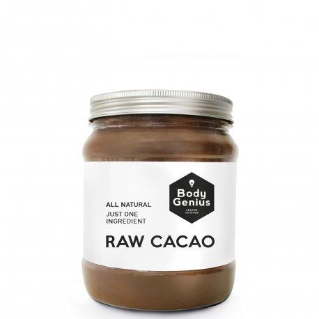 BODY GENIUS Raw Cacao. 500g. Cacao Puro en Polvo. Sin Azúcar. Hecho en España.
