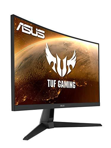 ASUS TUF Gaming VG27WQ1B 68,6 cm (27 Zoll) Curved Monitor (WQHD, 165Hz, FreeSync Premium, 1ms Reaktionszeit, HDR10, HDMI, DisplayPort)