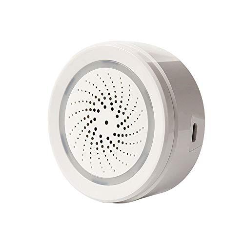Haozee Smart Siren with Temperature Humidity Monitor, WiFi Tuya Smart Sensor 105 dB Siren Alarm Sensor Compatiable with Echo Google Home Assistant