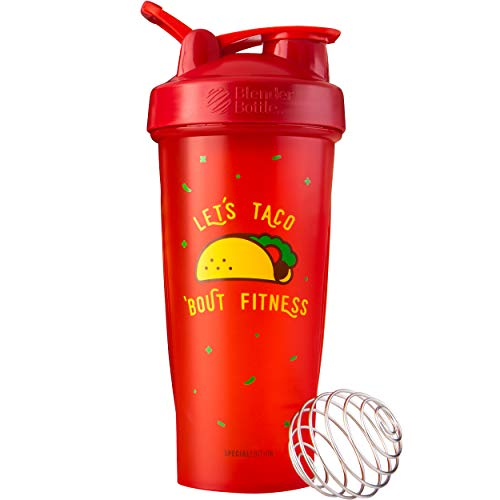 BlenderBottle Just for Fun Classic Shaker Bottle Perfect for Protein Shakes and Pre Workout, 28-Ounce, Let