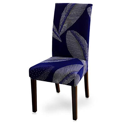 1/2/4/6 stks Elastische Gedrukte Eetkamerstoel Hoes Verwijderbare Hoes Anti-vuile Keuken Seat Case Polyester Stretch Stoelhoezen, 16, Verenigde Staten