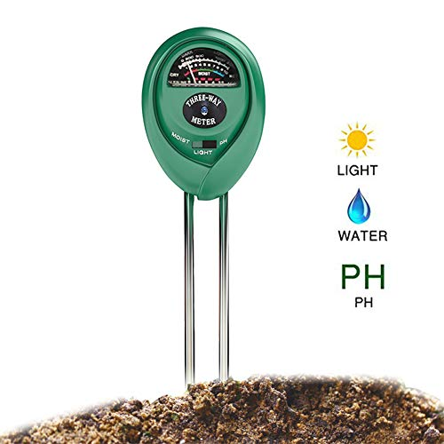 Great Deal! REARAND 3-in-1 Soil Tester, Moisture, Light, PH Soil Test Kit Soil PH Meter for Garden, ...