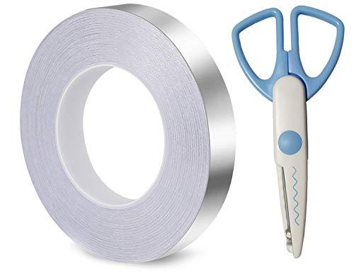 GOKEI 導電性アルミテープ 【20mm幅x50m長×厚さ0.06mm】アルミ箔テープ 導電性 アルミ箔テープ 静電気除去 アルミテープチューン 耐熱 金属テープ 強粘着 静電気対策テープ