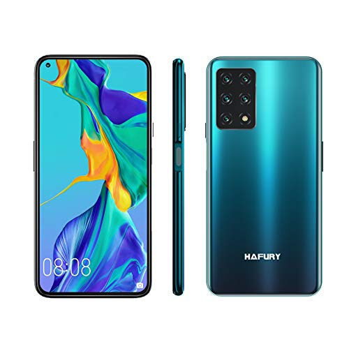 Unlocked Smartphone, HAFURY GT20 8GB RAM/128GB, 6.4-Inch Display, 48MP Cameras, 4200mAh Battery, Android 10, Global Version, Dual SIM, Gradient+Green
