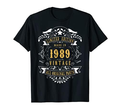 32 años Made in 1989 Vintage 32th Birthday Camiseta