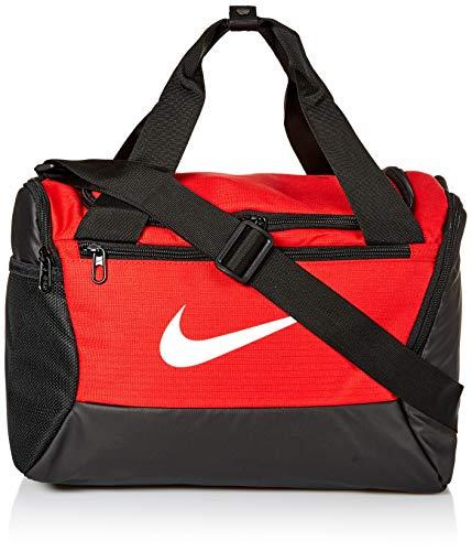 Nike Brasilia Sporttasche, Größe XS, 23cm breit, Unisex-Erwachsene, Tasche, Nike Brasilia X-small Duffel - 9.0, University Rot/Schwarz/Weiß, Misc