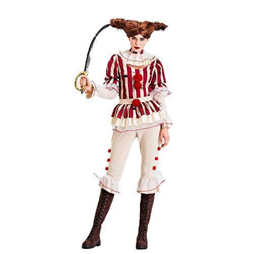 Upretty Clown Kostüm Halloween Frauen Cosplay Party Zirkus Karneval Bühne Uniform Set Kleid