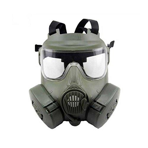 Aisoft Dual Fan Mask - M50 OD Maschera antigas tattica per Softair protezione completa a doppia ventilazione