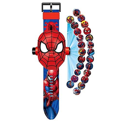 ColorBuy Montre Spiderman projecteur de 24 Figurines Super...