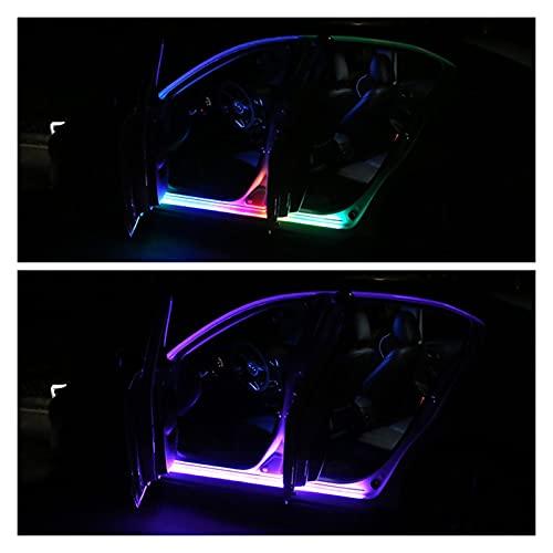 Ambiente romántica Luces DIRIGIÓ Luz decorativa de la puerta del coche, luces de la tira de coche, luces de la puerta impermeable, lámpara de atmósfera universal del automóvil Para la decoración del h
