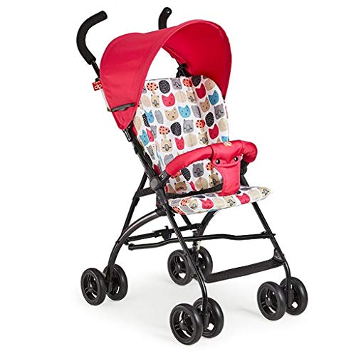 Find Bargain KHUY Ultra-Lightweight Stroller, Compact, Self-Standing Folding Design, Shopping Basket...
