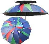 RUINAIER Sombrilla con Mástil de para Terraza Playa Jardín Sombrilla con Manivela y la función de la inclinación, Patio/Pesca/Patio Trasero de Playa/Parasol Umbrella (Color : 220cm(7.2ft))