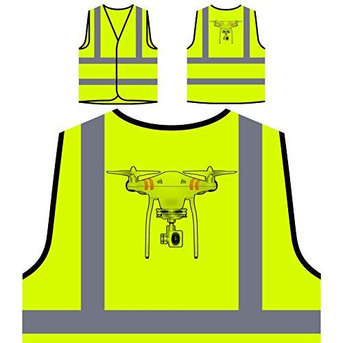 Drohnen-Kamerapilot Personalisierte High Visibility Gelbe Sicherheitsjacke Weste r632v