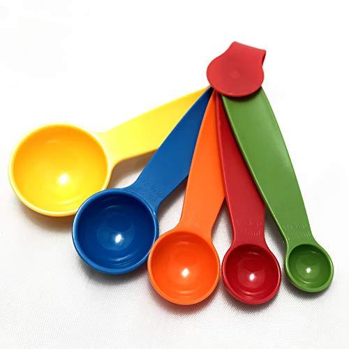 Stockpiler - Set de 5 cucharas medidoras reposteria - Tazas medidoras diferentes tamaños de cacito medidor para usar como medidores cocina - Measuring cups and spoons