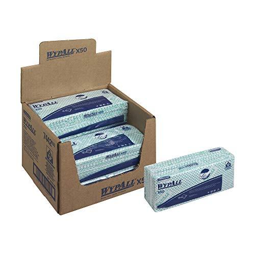 Wypall 7442 Paños de limpieza, 6 paquete x 50, 1 Capa, Verd