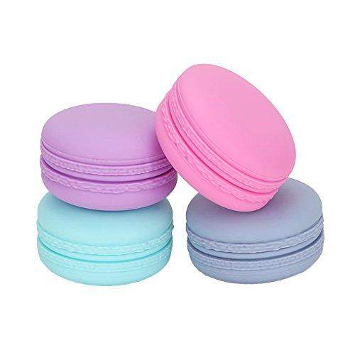 Gracelaza 4 Pcs Set Silicone Cosmétiques Conteneur Bouteilles avec Couvercle Scellé - Exquis Maquillage Flacons - Idéal Accessoires pour Voyage et Usage Domestique (Capacité: 20ml)