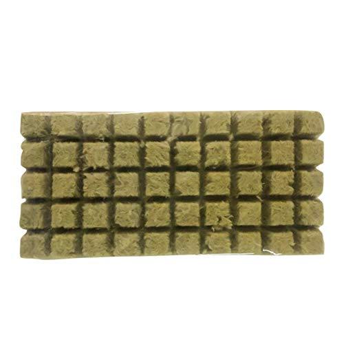 ZAK168 Rockwool/Stonewool Grow Cubes Starterblätter, Hydroponic Grow Rockwool Cubes Soilless Anbau Compress Base, Hydroponic Grow Medien für Stecklinge, Klonen, Pflanzenvermehrung, Samen