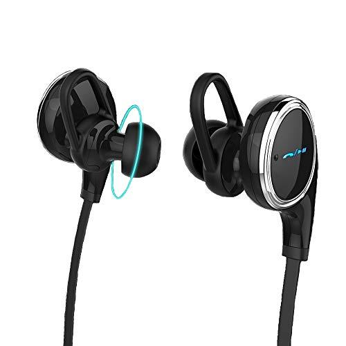 Auriculares Bluetooth: los mejores auriculares in-ear inalámbricos y compactos con Bluetooth 4.1, ideales para hacer deporte, con graves y micrófono compatible con iPhone 6,6S, 5,5S, iPad, iPod, Samsung Galaxy Edge Note y con todos los dispositivos Bluetooth
