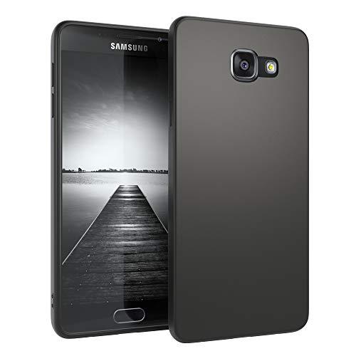 EAZY CASE Handyhülle Silikon mit Kameraschutz Samsung Galaxy A5 (2016) in schwarz matt, Ultra dünn, Slimcover, Silikonhülle, Hülle, Softcase, Backcover