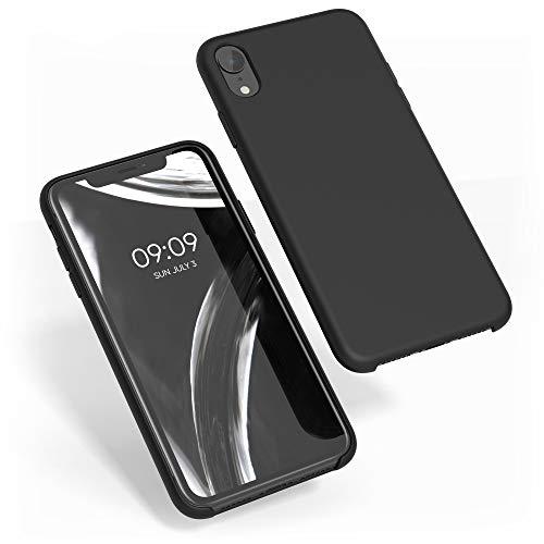 kwmobile Funda Compatible con Apple iPhone XR - Carcasa de TPU para móvil - Cover Trasero en Negro