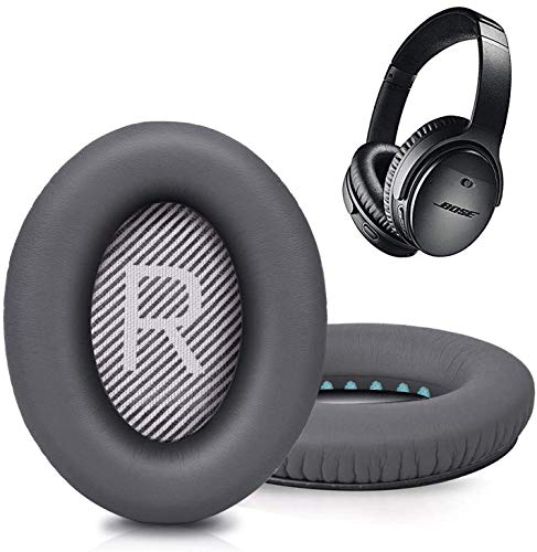 Replacement Ear Pads for Bose SoundTrue Headphones Around-Ear Style, Memory Foam Also Fits QuietComfort 35/ QC35 ii Around-Ear Headphones(Dark Grey)