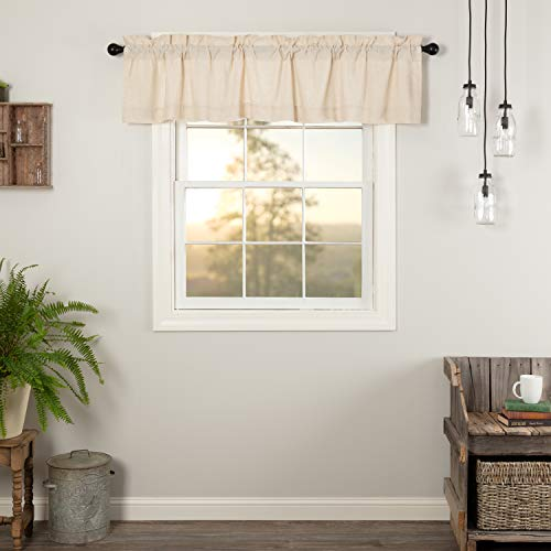 VHC Brands Simple Life Flax Natural Valance, 16x72