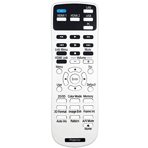 AuKing - Mando a distancia para proyector Epson EH-TW5210 EH-TW5300 EH-TW5350 POWERLITE HOME CINE 2040 POWERLITE HOME CINE 2045